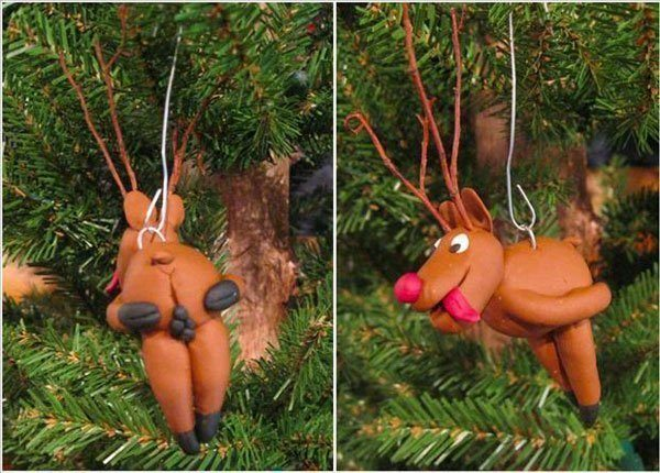 Reindeer Poop Christmas Decorations