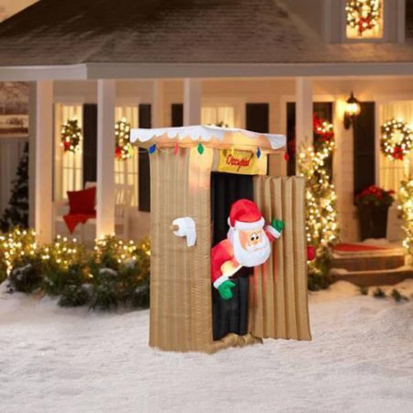 Santa Outhouse