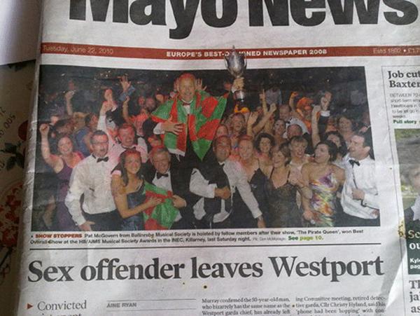 Sex Offender Leaves