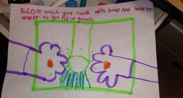 Wash Hands Kids Drawings
