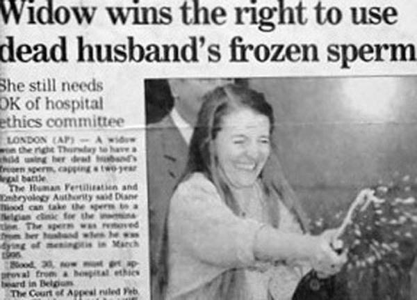 Widow Frozen Sperm