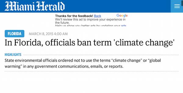Climate Change Ban