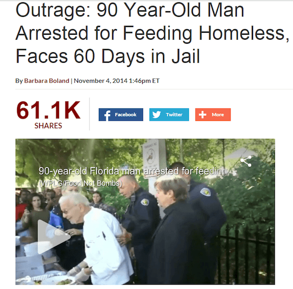 Feeding Homeless Illegal In Florida