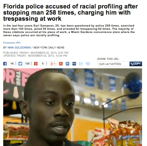 Florida Is The Worst Profiling