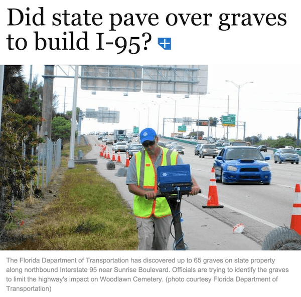 I95 Paved Over Graves