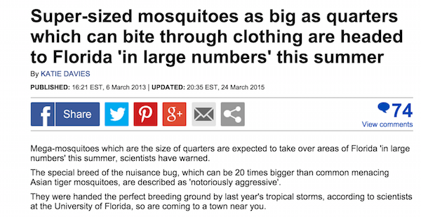 Super Size Mosquitoes