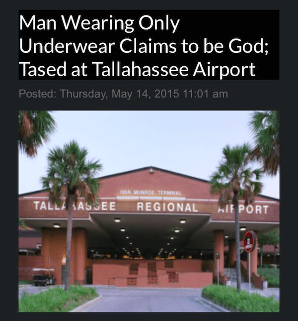 Tased At Florida Airport
