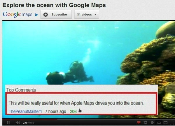 Apple Maps Youtube Comments