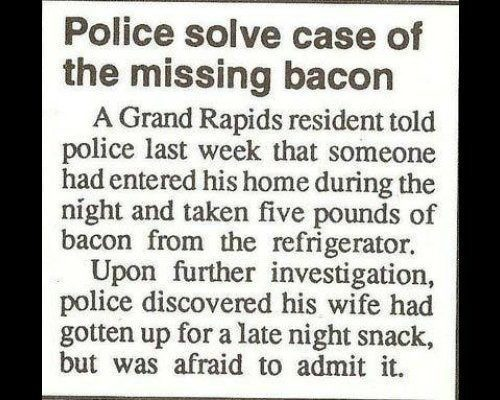 Bacon Police Report