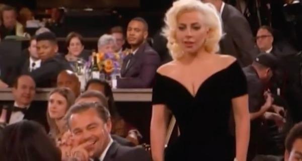 Golden Globes Gaga Leo