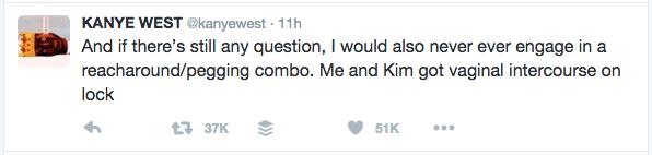 Kanye Twitter Rant Reacharound Pegging