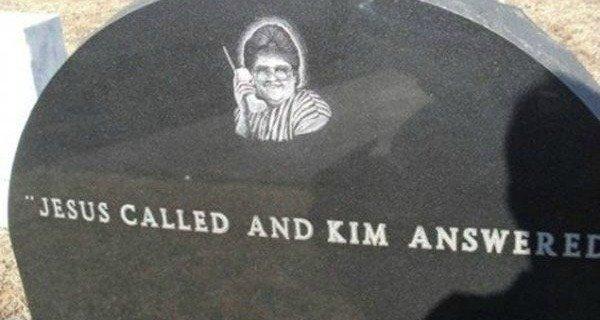 hilarious tombstones kim