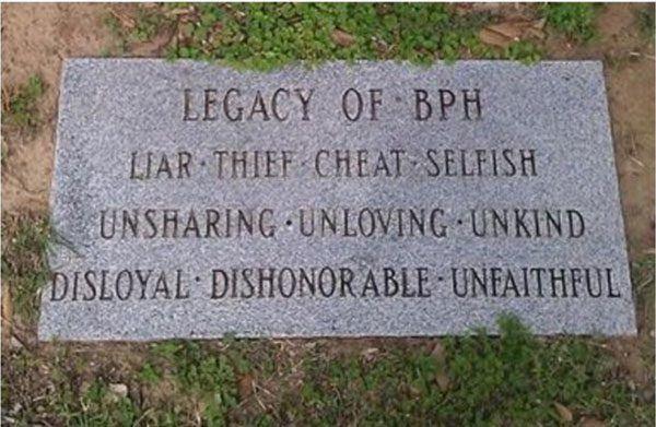 Legacy Of Bph