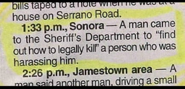 Legal Kill Police Report