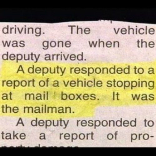 Mailman Call Cops