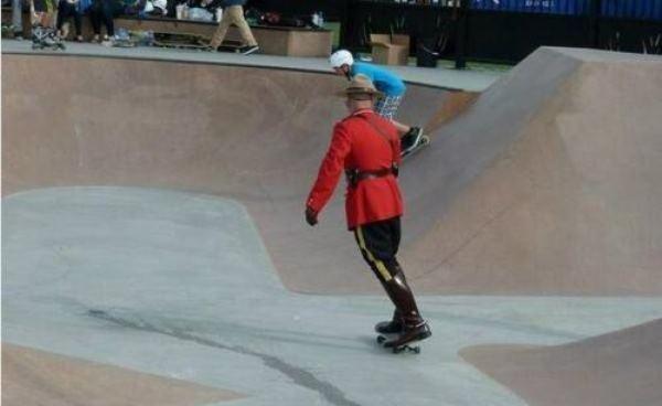 Mounty Skateboarding funny Canada photos
