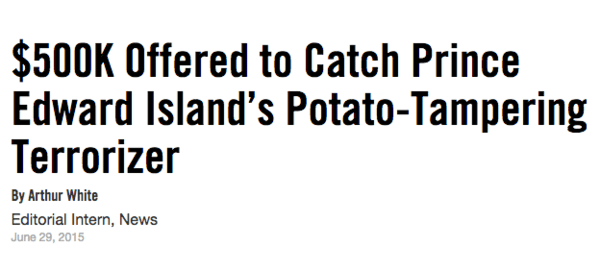 Potato Tampering