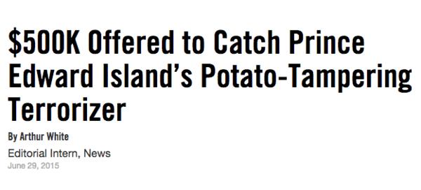 Potato Tampering