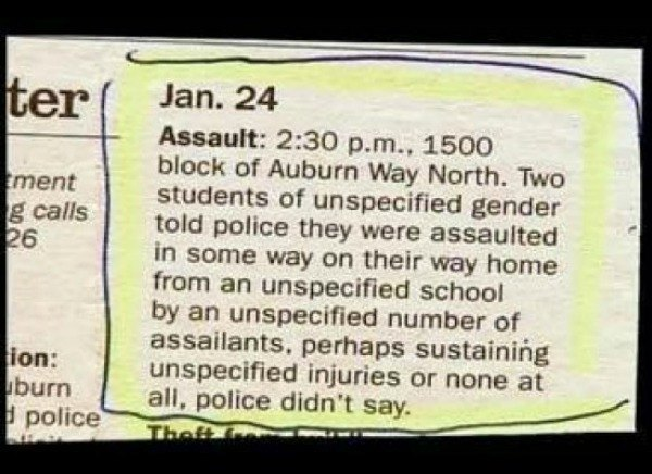 Unspecified Police Report