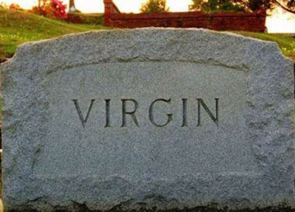 Virgin Tombstone Funny