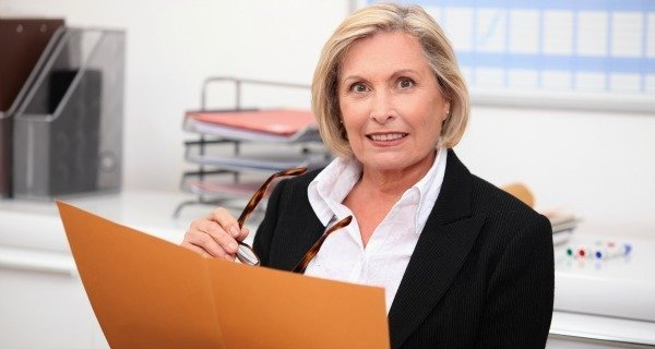 Woman With File