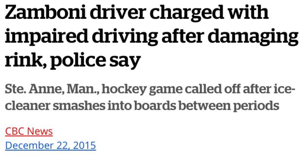 Zamboni Driver