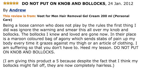 Veet Knob And Bollocks