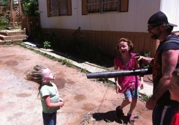 Children In Danger Leaf Blower