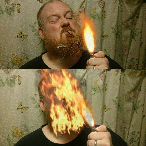 Light Beard On Fire