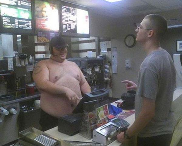 Topless Cashier