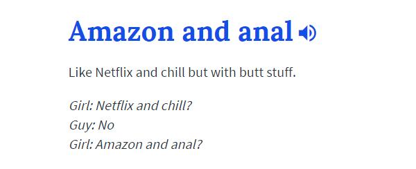 Amazon And Anal