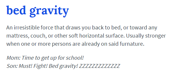 Bed Gravity