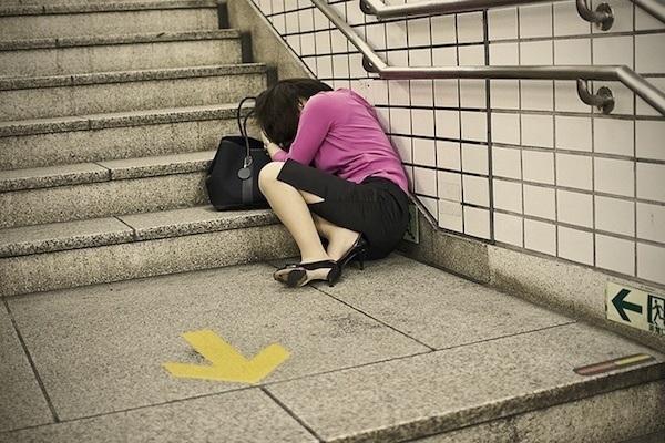 Business Woman Asleep In Tokyo