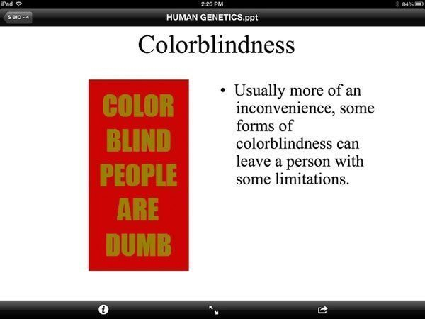 Color Blind Teacher