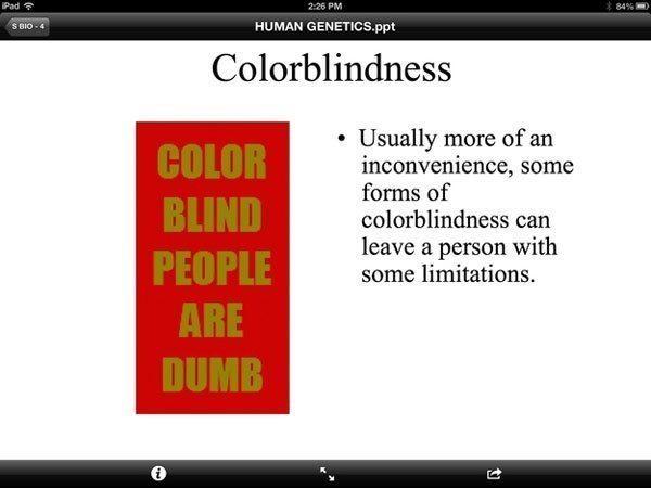 Color Blind Teacher