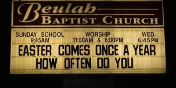 Easter Funny Church Signs
