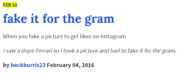 Fake It For The Gram