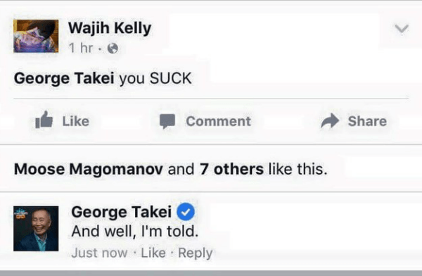 George Takei Sucks