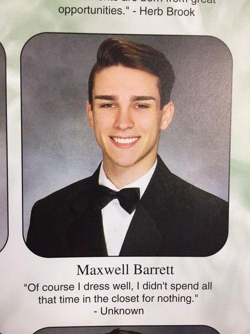 In The Closet Senior Quote