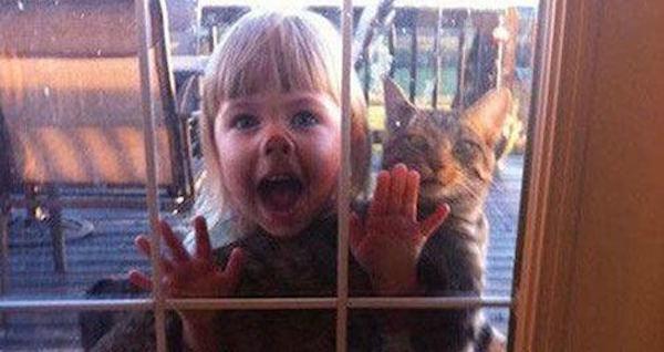 Kid With Cat Kids Being Weird Og
