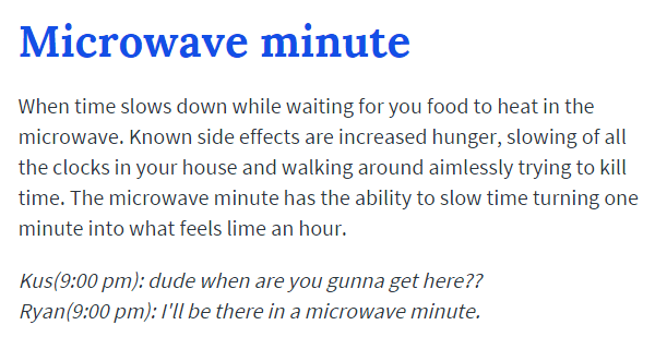 Microwave Minute