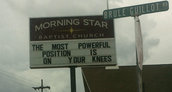 On Your Knees At Church