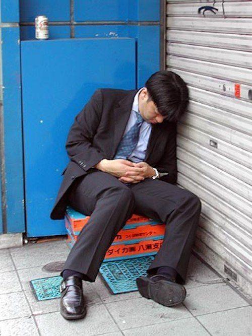 Sleeping In Tokyo Doorway