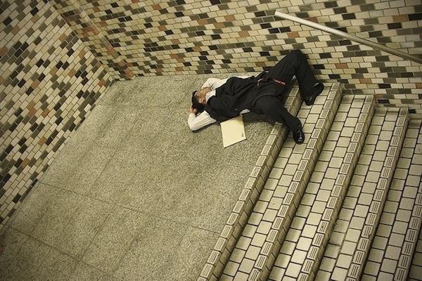 Sleeping Tokyo Salaryman