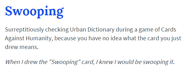 Swooping