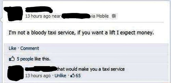 Taxi Service Called Out