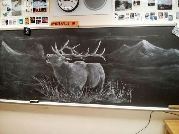 Teacher Chalk Drawings