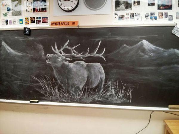 Teacher Chalk Drawings