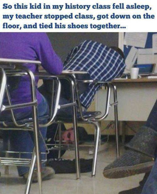 Teacher Ties Shoes