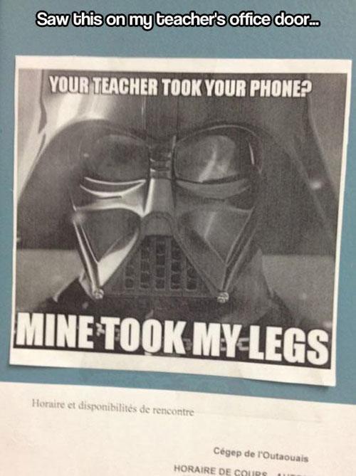 Teacher Took Legs